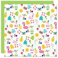 Bella Blvd - Splash Zone Collection - 12 x 12 Double Sided Paper - Summer Scramble