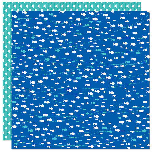 Bella Blvd - Splash Zone Collection - 12 x 12 Double Sided Paper - Swim Like A Fish