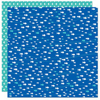Bella Blvd - Splash Zone Collection - 12 x 12 Double Sided Paper - Swim Like A Fish