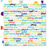 Bella Blvd - Splash Zone Collection - 12 x 12 Double Sided Paper - Word Jumble