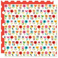 Bella Blvd - Splash Zone Collection - 12 x 12 Double Sided Paper - Flower Garden
