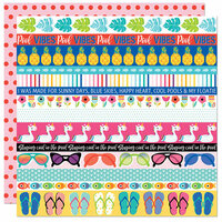 Bella Blvd - Splash Zone Collection - 12 x 12 Double Sided Paper - Borders