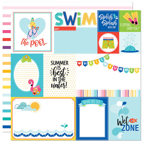 Bella Blvd - Splash Zone Collection - 12 x 12 Double Sided Paper - Daily Details