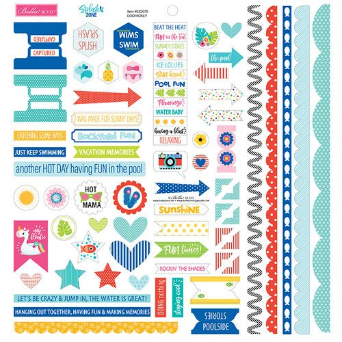 Bella Blvd - Splash Zone Collection - Doohickey - Cardstock Stickers