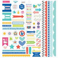 Bella Blvd - Splash Zone Collection - Doohickey - Cardstock Stickers