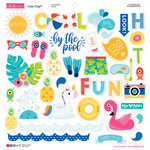 Bella Blvd - Splash Zone Collection - Chipboard Stickers - Icons