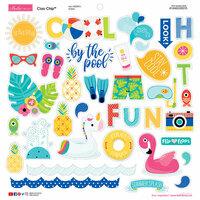 Bella Blvd - Splash Zone Collection - Chipboard Stickers - Icons