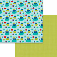 Bella Blvd - Wish Big Collection - Birthday Boy - 12 x 12 Double Sided Paper - Cake Time