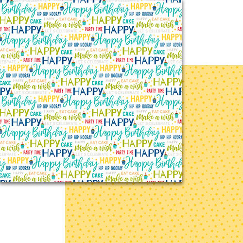 Bella Blvd - Wish Big Collection - Birthday Boy - 12 x 12 Double Sided Paper - Make A Wish