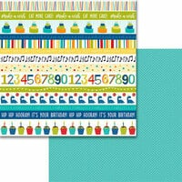 Bella Blvd - Wish Big Collection - Birthday Boy - 12 x 12 Double Sided Paper - Borders