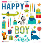 Bella Blvd - Wish Big Collection - Birthday Boy - Ciao Chip - Self Adhesive Chipboard - Icons