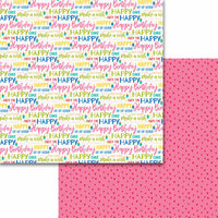 Bella Blvd - Wish Big Collection - Birthday Girl - 12 x 12 Double Sided Paper - Let's Celebrate