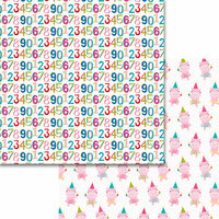 Bella Blvd - Wish Big Collection - Birthday Girl - 12 x 12 Double Sided Paper - 123456789