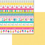 Bella Blvd - Wish Big Collection - Birthday Girl - 12 x 12 Double Sided Paper - Borders