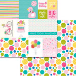 Bella Blvd - Wish Big Collection - Birthday Girl - 12 x 12 Double Sided Paper - Daily Details