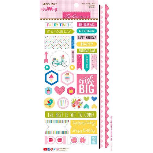 Bella Blvd - Wish Big Collection - Birthday Girl - Sticky Mix - Cardstock Stickers