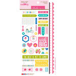 Bella Blvd - Wish Big Collection - Birthday Girl - Sticky Mix - Cardstock Stickers