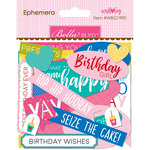 Bella Blvd - Wish Big Collection - Birthday Girl - Ephemera - Words