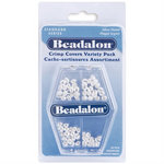 Beadalon - Jewelry - Crimp Covers Variety Pack - Silver Plated Assortment - 80 Pieces