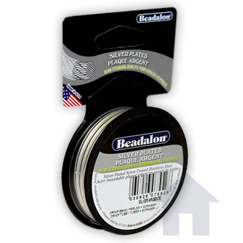 Beadalon - Jewelry - Bead Stringing Wire - 49 Strand - .015 Inches - 10 feet - Silver Plated