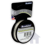 Beadalon - Jewelry - Bead Stringing Wire - 19 Strand - .024 Inches - 15 feet - Silver Plated