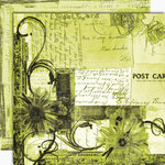 Black Market Paper Society - Letters from Paradise Collection - 12x12 Double Sided Paper - Dolcina Cove, CLEARANCE