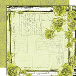 Black Market Paper Society - Letters from Paradise Collection - 12x12 Double Sided Paper - Desert Palm Shores, CLEARANCE