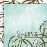 Black Market Paper Society - Lucky 'n Love Collection - 12x12 Double Sided Paper - Love Me Tender, CLEARANCE
