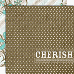 Black Market Paper Society - Lucky 'n Love Collection - 12x12 Double Sided Paper - Cherish Me Now, CLEARANCE