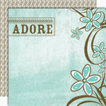 Black Market Paper Society - Lucky 'n Love Collection - 12x12 Double Sided Paper - Adore Me Darlin', CLEARANCE