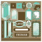 Black Market Paper Society - Lucky 'n Love Collection - Underground Tag Elements, CLEARANCE