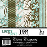 Black Market Paper Society - Covert Compacts - Lucky 'n Love Collection - 6x6 Paper Pad, CLEARANCE