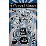 Brutus Monroe - Clear Acrylic Stamps - Hello Spring