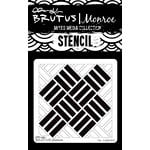 Brutus Monroe - Mixed Media Stencil - Tile