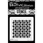 Brutus Monroe - Mixed Media Stencil - Polka