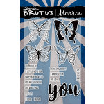 Brutus Monroe - Clear Acrylic Stamps - Butterfly Sentiments