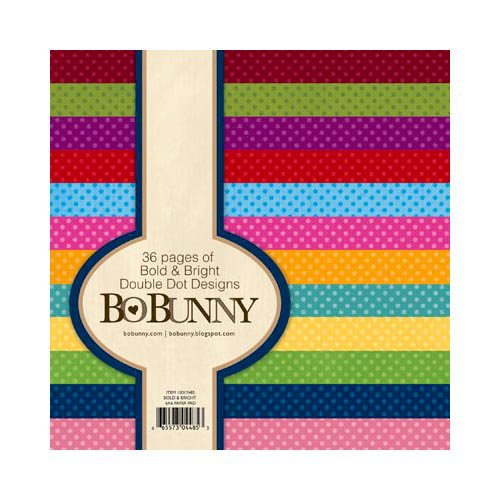 Bo Bunny - Double Dot Designs Collection - 6 x 6 Paper Pad - Bold and Bright