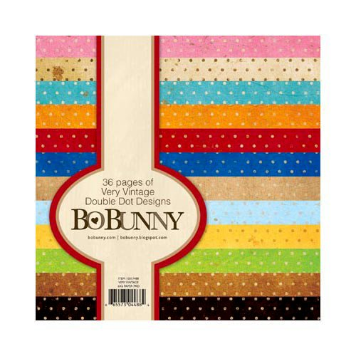 BoBunny - Double Dot Designs Collection - 6 x 6 Paper Pad - Very Vintage
