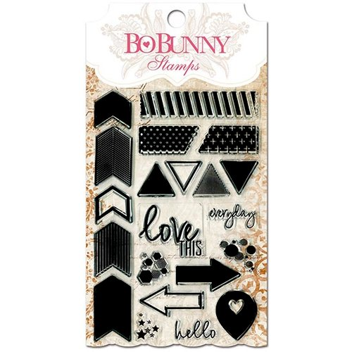 BoBunny - Essentials Collection - Clear Acrylic Stamp - To The Point