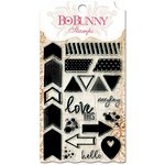 Bo Bunny - Essentials Collection - Clear Acrylic Stamp - To The Point