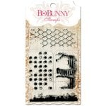 Bo Bunny - Essentials Collection - Clear Acrylic Stamp - Distressed Textures