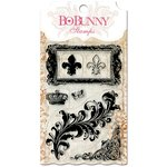 BoBunny - Essentials Collection - Clear Acrylic Stamp - Flourishes and Such