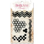 Bo Bunny - Essentials Collection - Clear Acrylic Stamp - Geometric Patterns