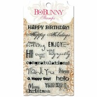 Bo Bunny Press - Essentials Collection - Clear Acrylic Stamp - Sentiments