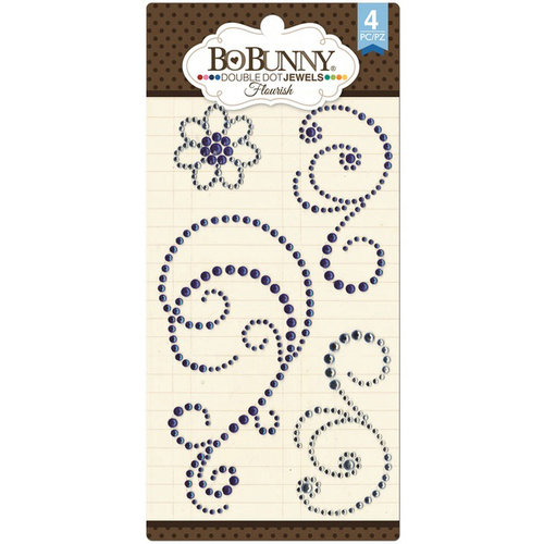 BoBunny - Double Dot Designs Collection - Bling - Flourish Jewels - Blue Hues
