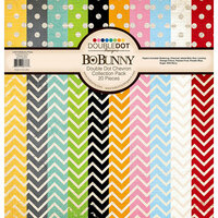 BoBunny - Double Dot Collection - 12 x 12 Collection Pack - Chevron - 20 Pieces