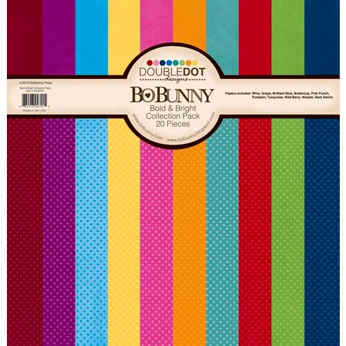 BoBunny - Double Dot Designs Collection - 12 x 12 Paper Pack - Bold and Bright