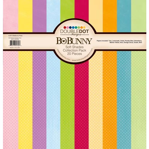 BoBunny - Double Dot Designs Collection - 12 x 12 Paper Pack - Soft Shades