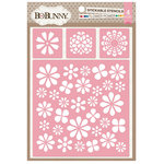 BoBunny - Stickable Stencils - Flower Power