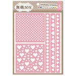 BoBunny - Stickable Stencils - Lots of Love
